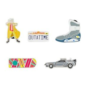 Back To The Future Collectible Pin Set of 5